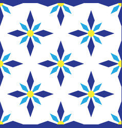 art abstract geometric blue seamless pattern vector image