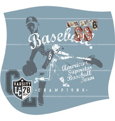 base ball aja vector image vector image