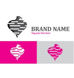 Eagle love logo vector