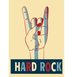 Hard rock stylish template for slogan poster or vector image vector image