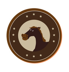 horse character wild west icon vector image vector image