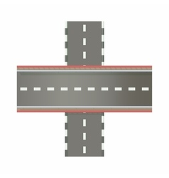 Multilevel road intersection of freeways icon vector image vector image