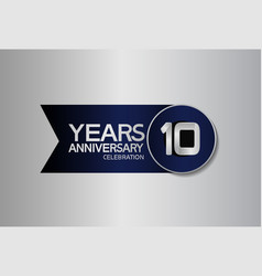 10 years anniversary logo style with circle vector