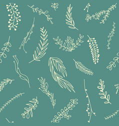 Abstract botanical minimalistic seamless pattern vector