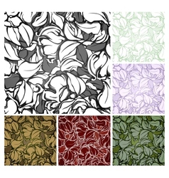 Abstract seamless pattern set vector