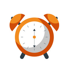 alarm clock time alert bell hour concept vector image