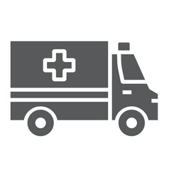 ambulance glyph icon emergency and hospital vector image