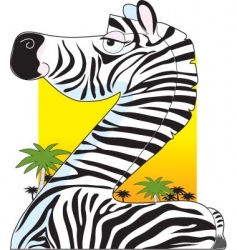 animal alphabet zebra vector image
