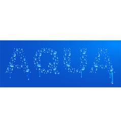 Aqua water drops vector