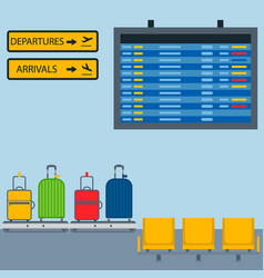 Aviation room icons airline graphic vector