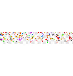 banner confetti and serpentine vector image