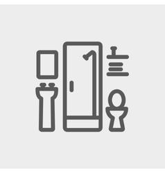 Bathroom thin line icon vector image