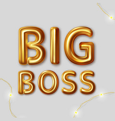 big boss inscription for best wishes vector image