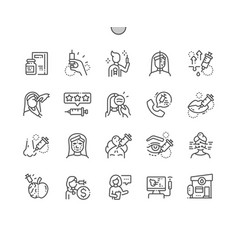 botox well-crafted pixel perfect icons vector image