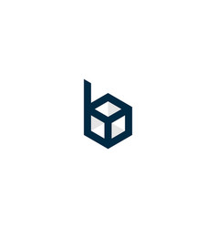 Box letter b logo icon design vector