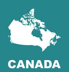 canada map flat vector image