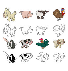 cartoon farm animal vector image