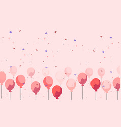 celebration background pink balloons floating in vector image