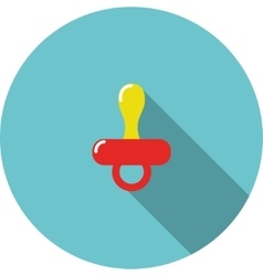 children icon Red baby nipple vector image