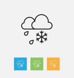 Climate symbol on rainy vector