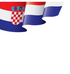 croatia flag on a white vector image