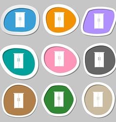 Cupboard icon sign Multicolored paper stickers vector image