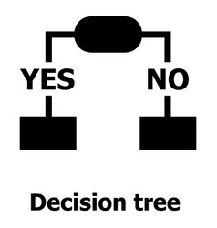 Decision tree icon simple style vector