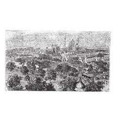 Delhi in India vintage engraving vector image
