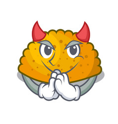 Devil fried patties isolated on the mascot vector