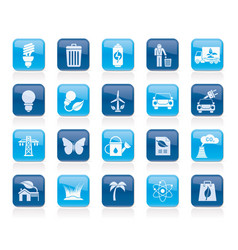 ecology environment and nature icons 1 vector image