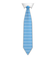 elegant blue tie icon realistic style vector image