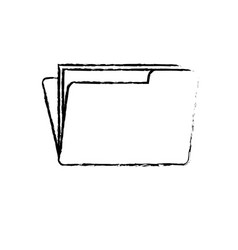 figure folder file with important business vector image
