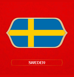 Flag of sweden is made in football style vector