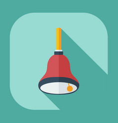 Flat modern design with shadow icon bell vector