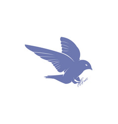 flying bird logo designs inspiration isolated on vector image