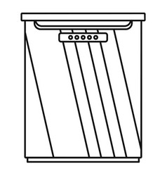 freezer icon outline style vector image