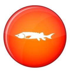 Fresh sturgeon fish icon flat style vector