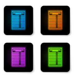 glowing neon paper check and financial check icon vector image