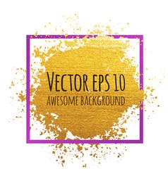 Golden brush stroke banner for your amazing vector