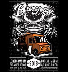 good burger car fast food truck vector image