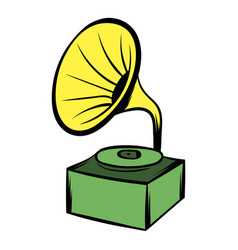 gramophone icon cartoon vector image
