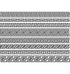 greek borders ancient roman or grecian geometric vector image