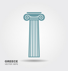 greek classical column vector image