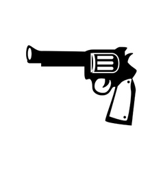 Gun weapon west antique icon graphic vector