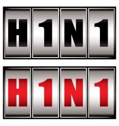 h1n1 dial vector image