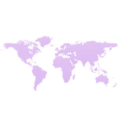 Halftone world map background with circles vector