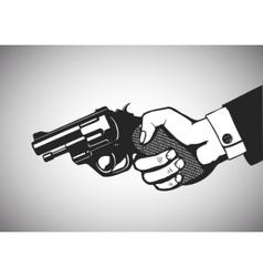 Hand gun vector