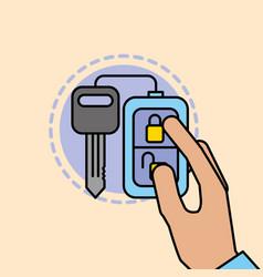 hand holding remote key car service maintenance vector image