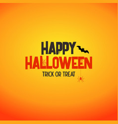 happy halloween lettering concept stock image vector image