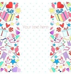 Holiday background with text placeholder vector image vector image